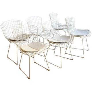 Set of 6 Bertoia Side Chairs for Knoll Vintage For Sale