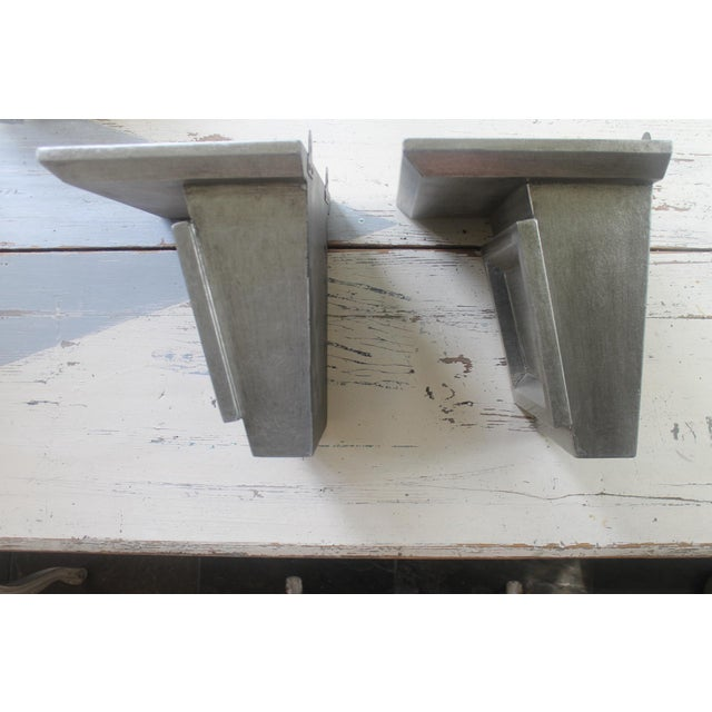 Asian Modern Port 68 Jonathan Silver Leaf Wall Brackets - a Pair For Sale - Image 4 of 11