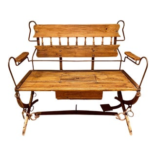 Antique Horse Drawn Sleigh Bench Seat For Sale
