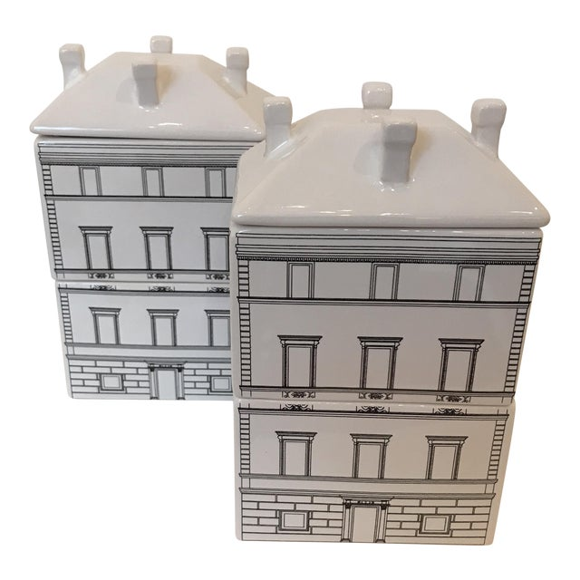 Architectural Canisters - a Pair - Image 1 of 5