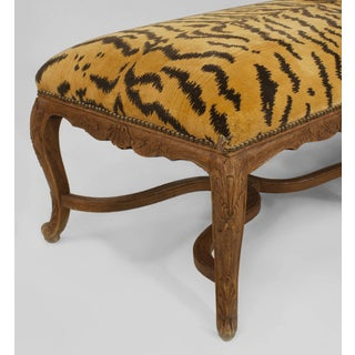 French Regency Style '19th-20th Century' Walnut Long Eight-Leg Bench Preview