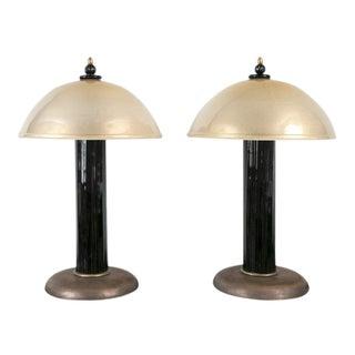 Vintage Venini Mushroom Lamps
