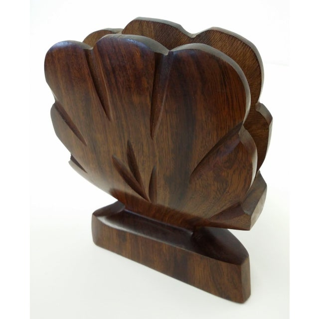 A nice addition to your summer tabletop. Will not blow over in the wind!! Lovely natural deep wood with nice grain and...