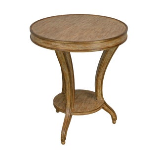 Neo-Classical Style Italian Distressed Painted Round Side Table For Sale