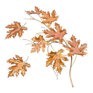 Copper & Brass Autumn Leaves For Sale