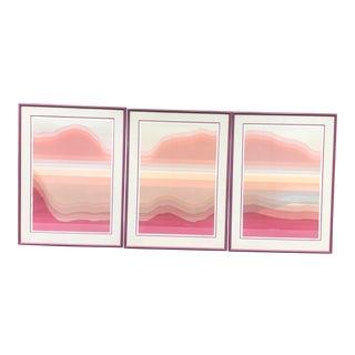 Mid Century Large Prints Signed/Numbered Audrey Grendahl Kuhn - Set of 3 For Sale