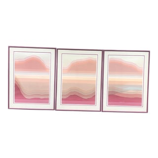 Mid Century Large Prints Signed/Numbered Audrey Grendahl Kuhn - Set of 3 - Prints Only For Sale