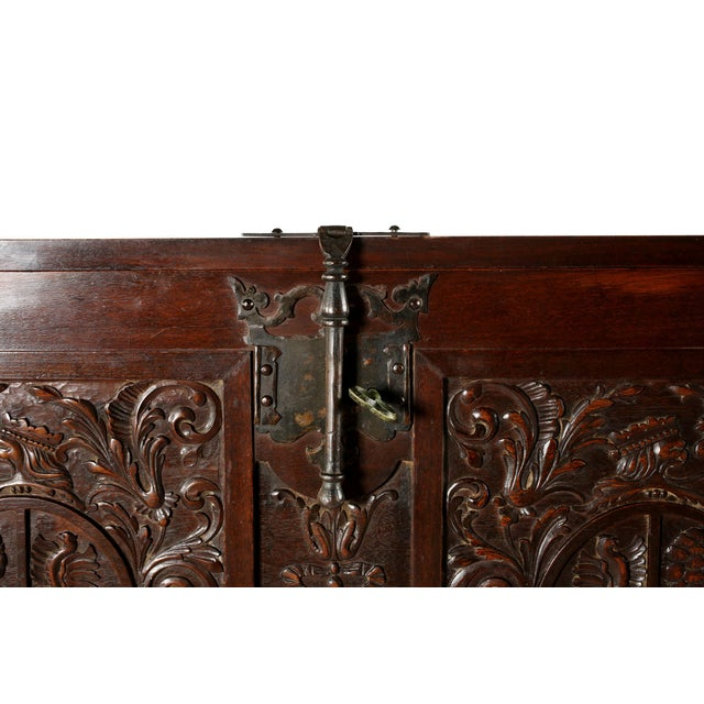 Metal 8th Century Baroque Style Cabinet on Stand / Bargueno / Vargueno For Sale - Image 7 of 13