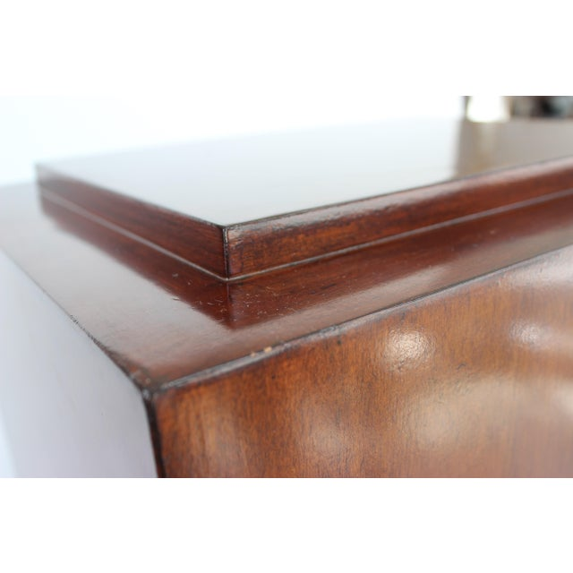 Modern Vintage Mahogany Pedestal For Sale - Image 3 of 13