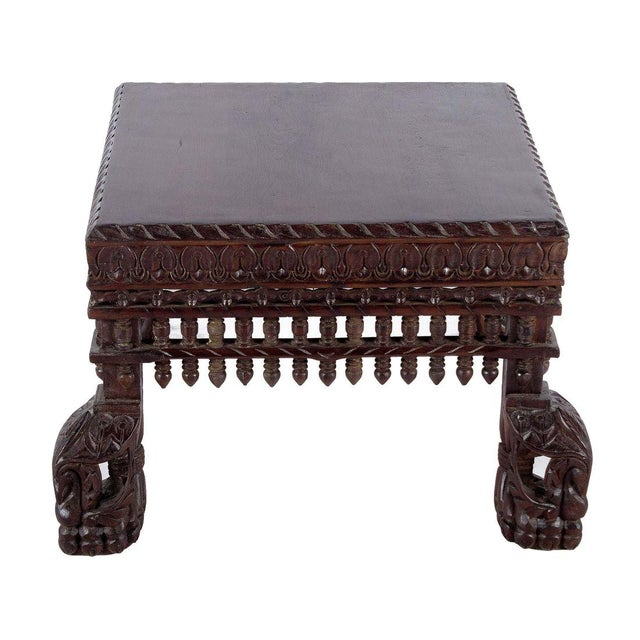 Teak Wood Peacock Coffee Table - Image 1 of 3