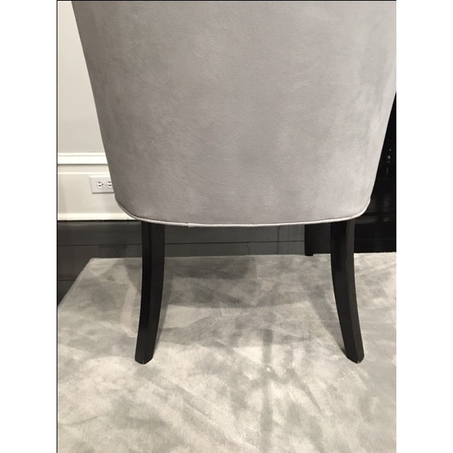 Vintage Chair With Donghia Gray Ultrasuede - Image 7 of 7
