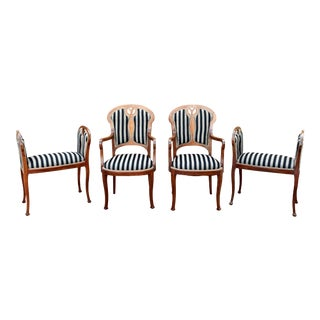 19th Century English Parlor Set For Sale