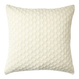 100% Baby Alpaca Theo Square Pillow For Sale