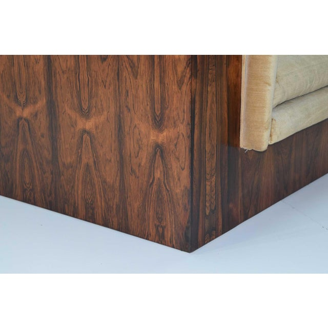 Milo Baughman for Thayer Coggin Rosewood Case Sofa For Sale - Image 12 of 13