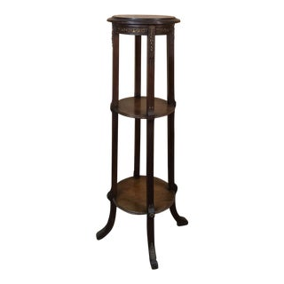 19th Century French Louis XVI Mahogany Pedestal With Bronze Mounts For Sale