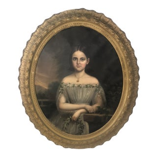 1810 Realism Oil Painting of Famous Young Girl For Sale