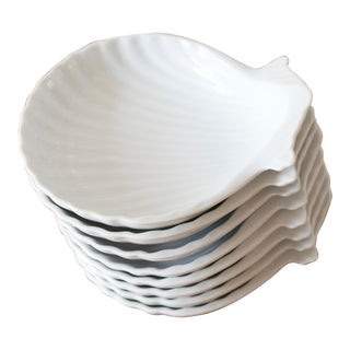 Vintage Clam Shell Appetizer Plates - Set of 8 For Sale