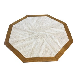 1950s Mid-Century Modern Harvey Probber Travertine Coffee Table For Sale