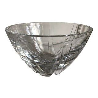 """Baccarat France 10"""" Footed Crystal Bowl Neptune Pattern For Sale"""