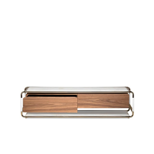 Modern Lautner Entertainment Console From Covet Paris For Sale - Image 3 of 9