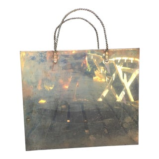 Vintage Brass Large Bag Shaped Container