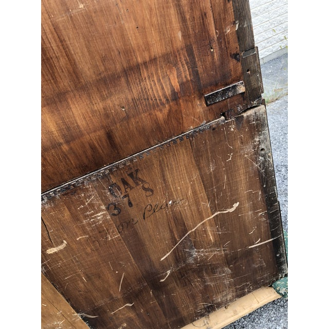 Large Vintage Industrial Wood Hardware Cabinet For Sale - Image 10 of 13