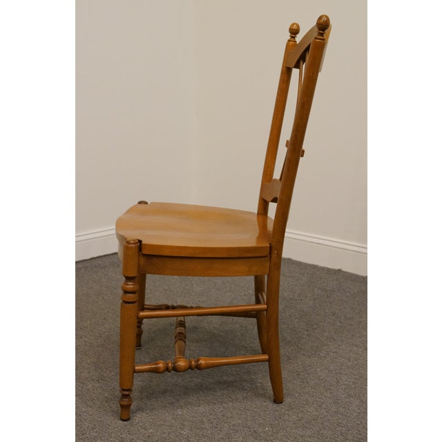 Late 20th Century Late 20th Century Vintage Ethan Allen Casual Dining Wheat Back Dining Side Chair For Sale - Image 5 of 10