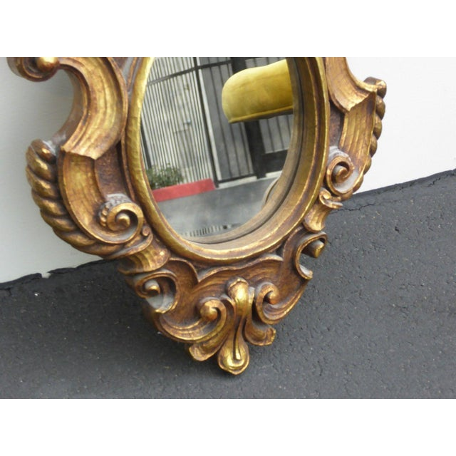 Vintage Syroco Gold Floral Wall Mirror - Image 7 of 11