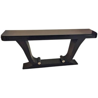 French Art Deco Exotic Macassar Ebony Console Table For Sale