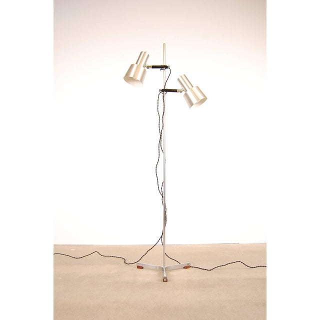 Floor Lamp in Stainless Steel and Teak by Fog & Mørup For Sale In Providence - Image 6 of 6