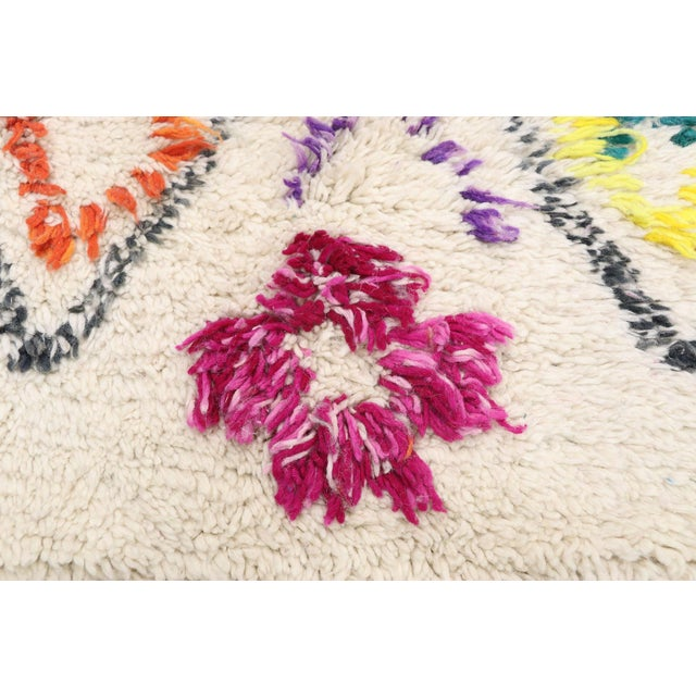 """Berber Tribes of Morocco Contemporary Berber Moroccan Azilal Rug - 6'6"""" X 9' For Sale - Image 4 of 9"""