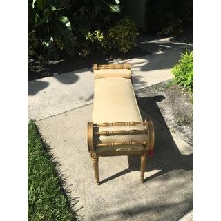Vintage Regency Gold Wood Bench Preview