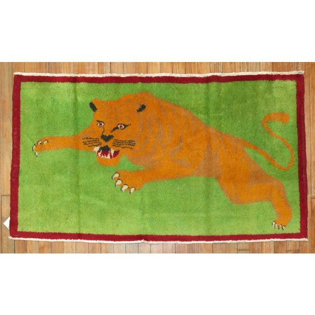 Angry Tiger Vintage Turkish Rug, 2'3'' X 4'6'' For Sale - Image 10 of 10