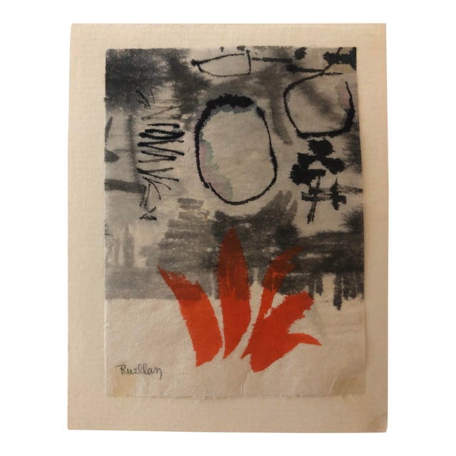 Mid-Century Modern Abstract by Andree Ruellan 1966 For Sale