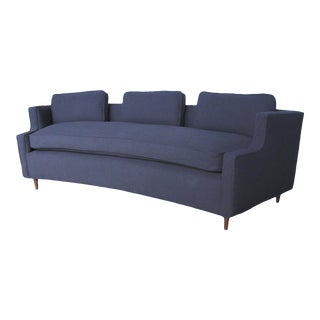 Pierre Curved Apartment Size Sofa For Sale
