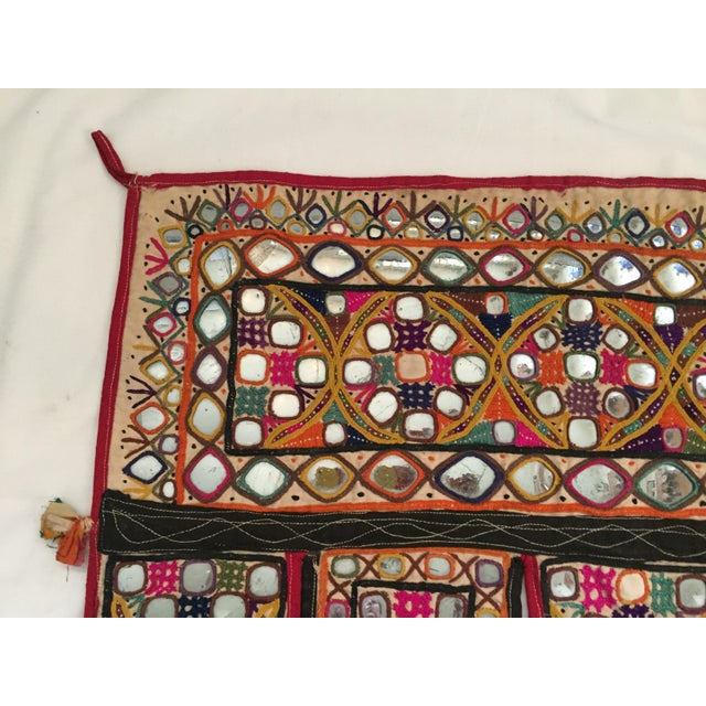 Indian Embroidered Mirror Valance For Sale - Image 5 of 10