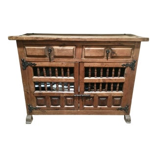 Antique Spanish Footed Cabinet For Sale