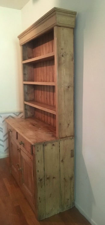 Antique English White Pine Hutch Cabinet For Sale   Image 4 Of 13