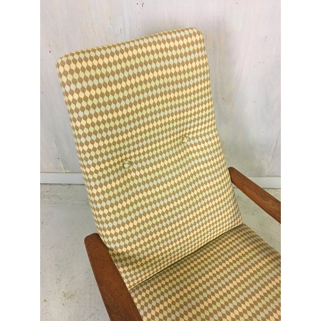 Ulferts Upholstered Lounge Chair With Teak Frame For Sale In Boston - Image 6 of 7