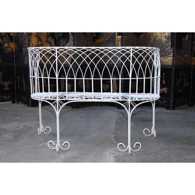 French Wrought Iron and Wire Garden Patio Set For Sale In San Francisco - Image 6 of 10