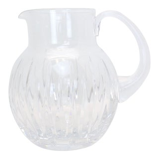 Vintage Reed & Barton Crystal Pitcher For Sale