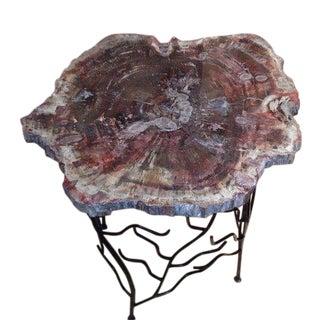 Arizona Petrified Wood Table Artisan Made Base