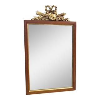 1950s Vintage Gilt Mahogany Wall Mirror For Sale