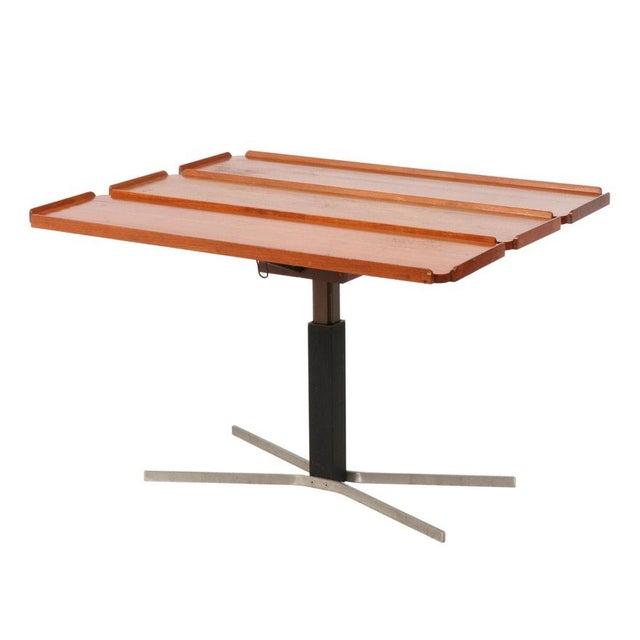 Mid-Century Danish Modern Teak Drop Leaf Table For Sale - Image 4 of 4