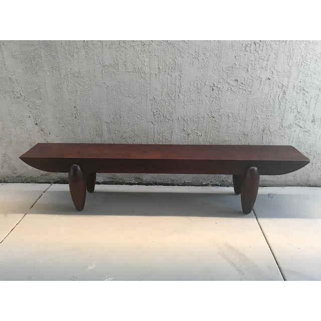 Brown Pirogue Bench by Christian Liaigre for Holly Hunt For Sale - Image 8 of 8