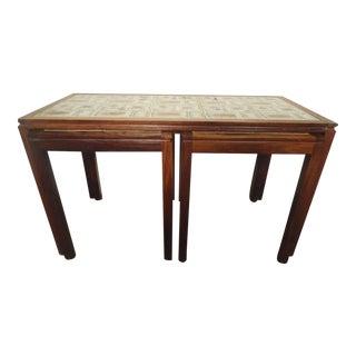 Midcentury Tile-Top Table Set