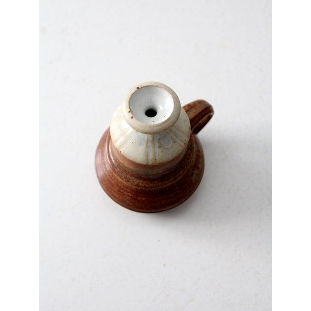 Vintage Studio Pottery Oil Lamp by Charles Piatt For Sale - Image 4 of 7