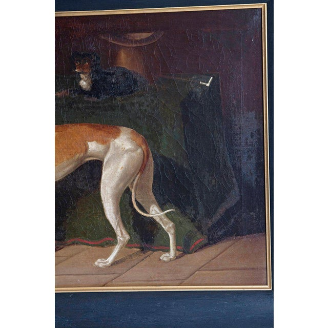 Early 19th Century English Whippet Oil Painting For Sale - Image 10 of 13