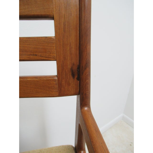 Danish Modern Teak Ladder Back Bar Counter Arm Stools - a Pair For Sale - Image 10 of 12