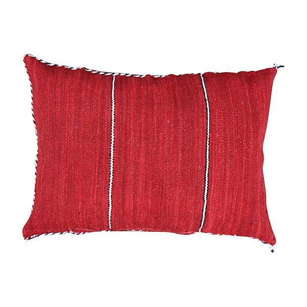 Berber Striped Moroccan Pillow - Image 2 of 2